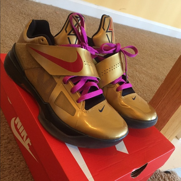 Nike Shoes   Kd 4 Gold Medal   Poshmark